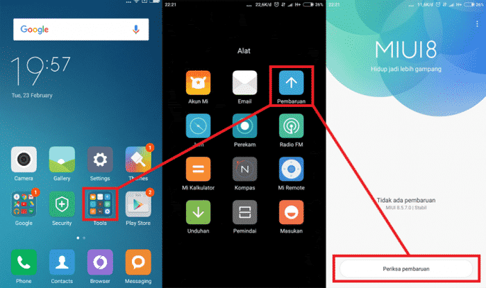 Cara Upgrade dan downgrade miui xiaomi
