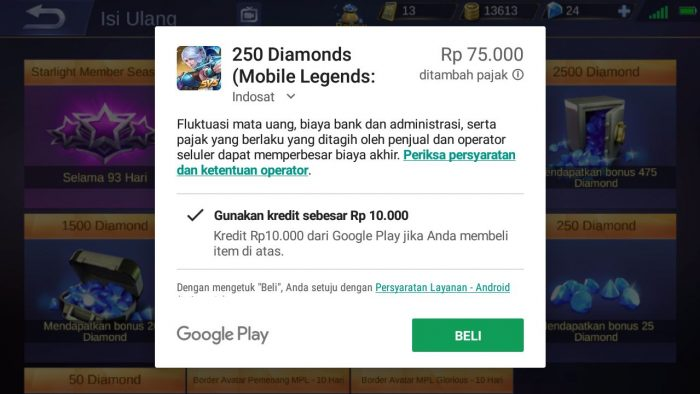 cara Beli skin murah mobile legends