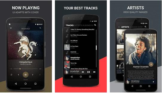 Aplikasi Pemutar Musik Black Music Player