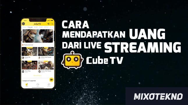 Cara live streaming cube tv