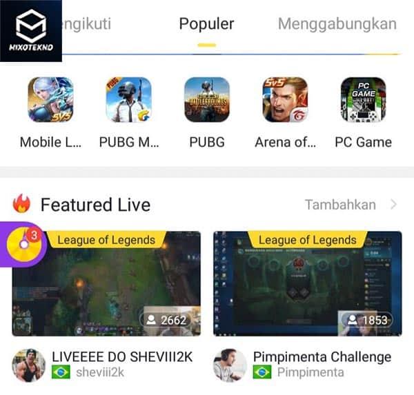 streaming game dapet uang