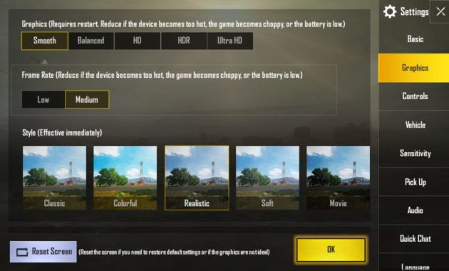 setting grafik pubg mobile