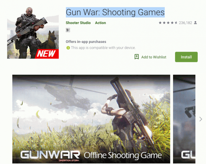 Gun War-Shooting Games