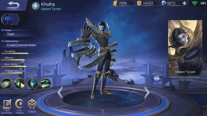 Hero baru mobile legend khufra