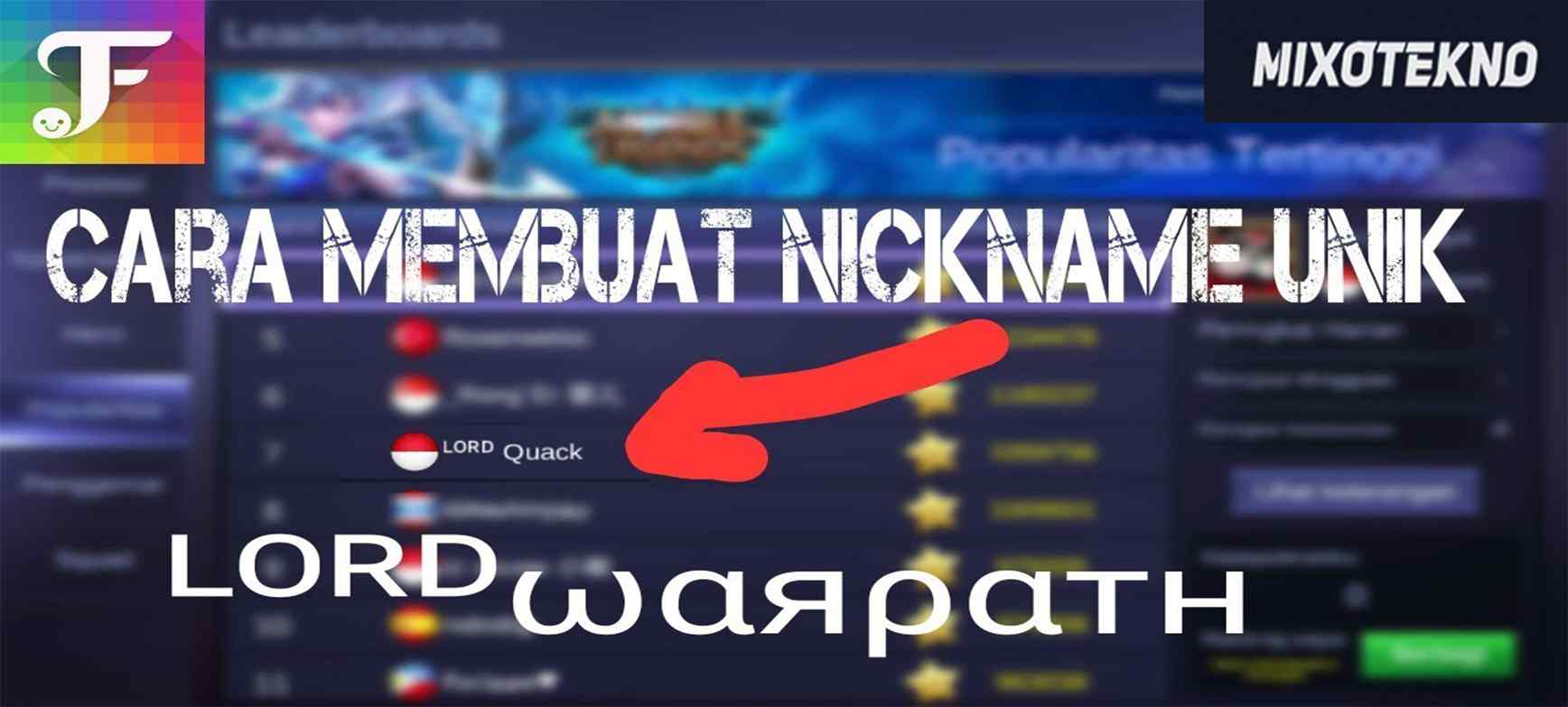 Mengubah ID Mobile Legends Unik