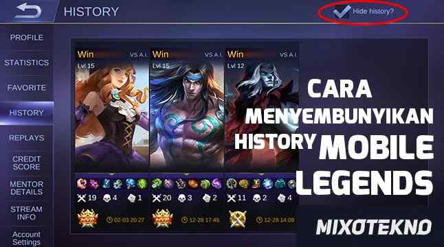 Cara Menghapus History Mobile Legends