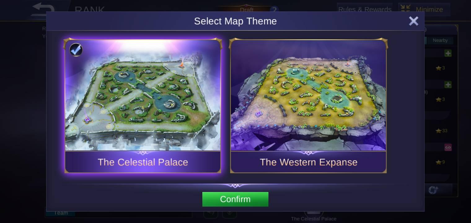 Pilih Celestial Palace untuk script drone view