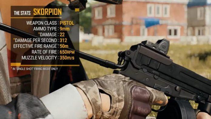 senjata scorpion pubg
