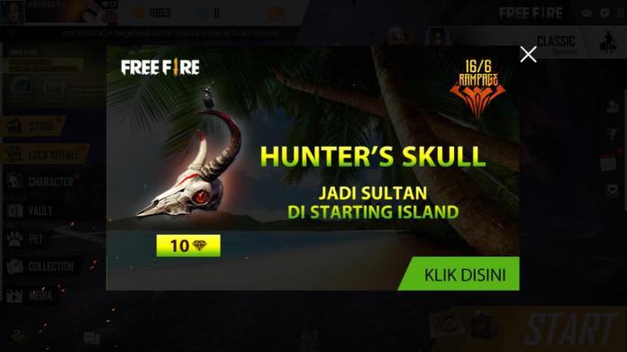 Hunter skull free fire