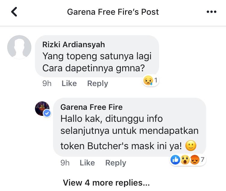 Cara mendapatkan butcher mask free fire