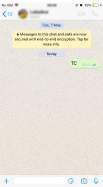 arti TC di whatsapp