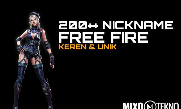 200 Kumpulan Nickname Free Fire Keren Mirip Pro Player B Jepang D
