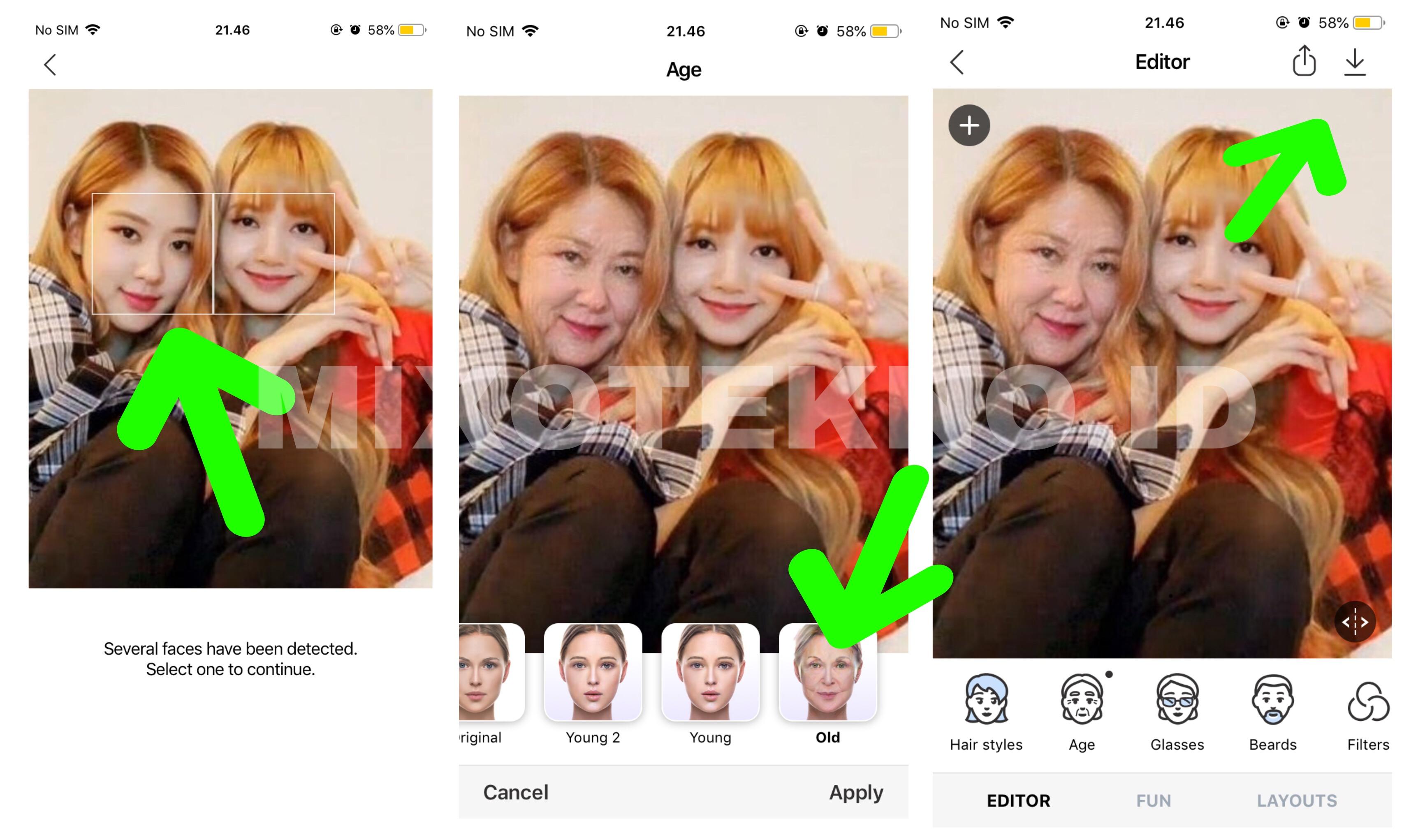 Cara faceapp 2 wajah