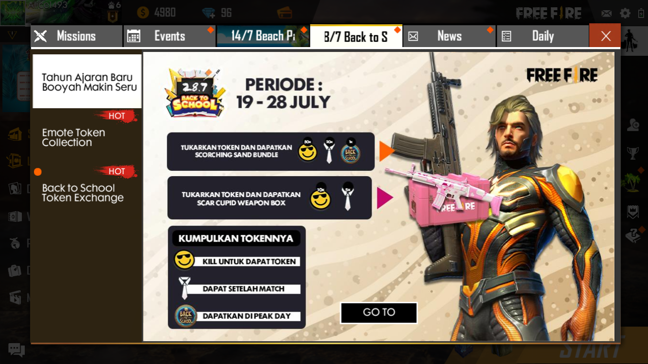 Peak day free fire