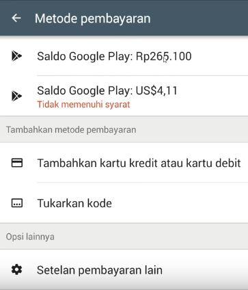 cara melihat saldo google play