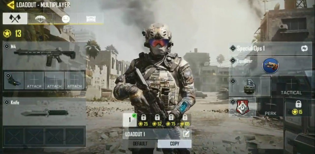 Settingan call of duty mobile terbaik - loadout terbaik