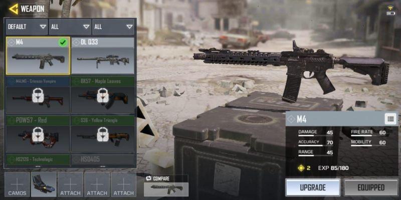 senjata terbaik di call of duty mobile