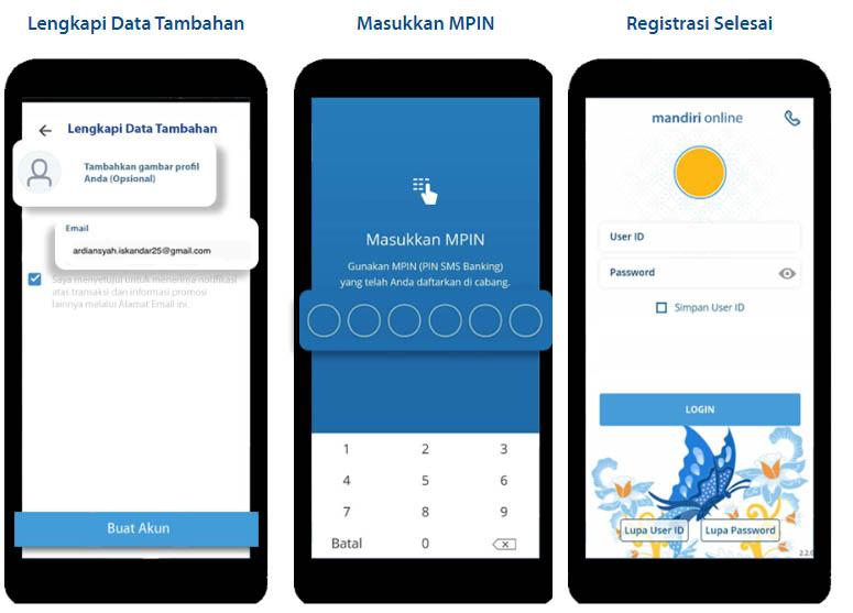 cara aktivasi mobile banking mandiri di android