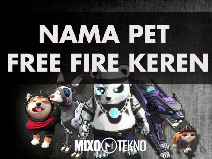 NAMA PET FREE FIRE KEREN ANJING PANTHER KUCING SHIBA DOG