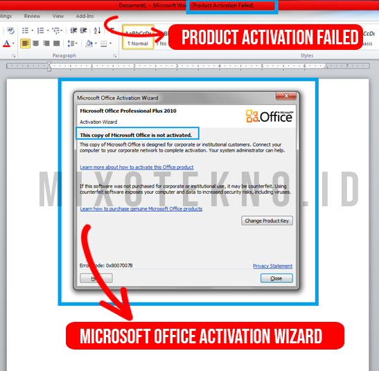 menghilangkan microsoft office activation wizard