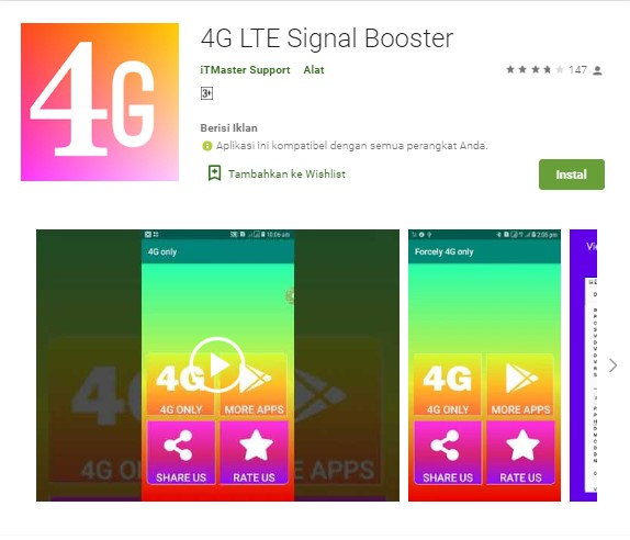 aplikasi penguat sinyal android 4G LTE Signal Booster Network