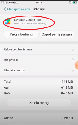 cara downgrade layanan google play