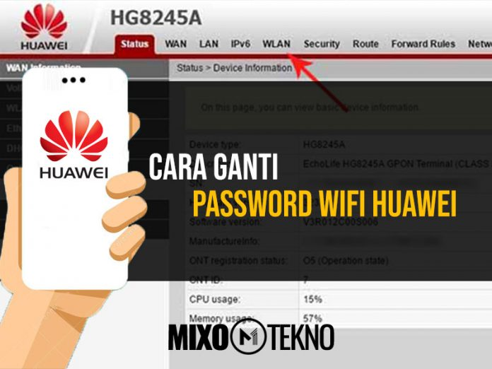 Cara Ganti Password Wifi Huawei