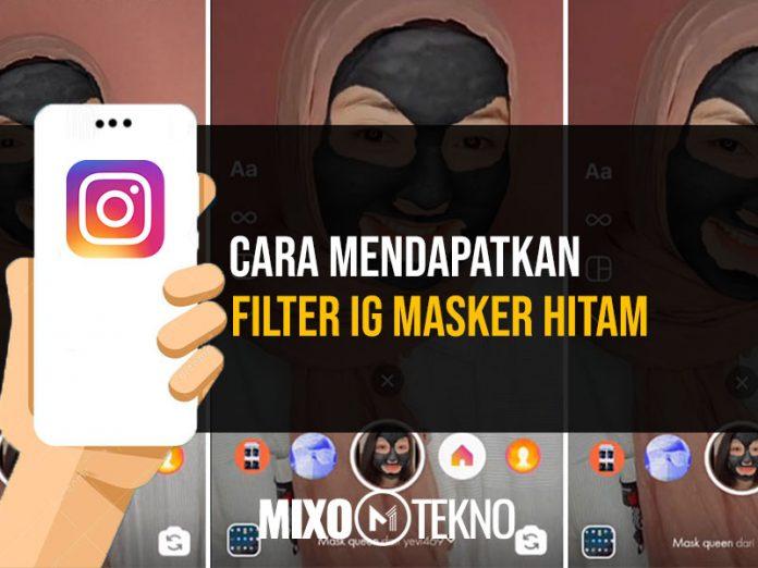 Filter IG Masker Hitam